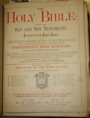Bible title page